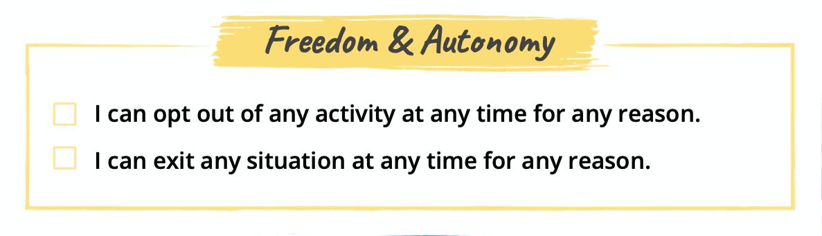 Freedom & Autonomy